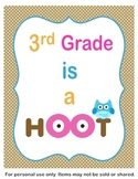 3rd Grade is a Hoot Classroom Sign