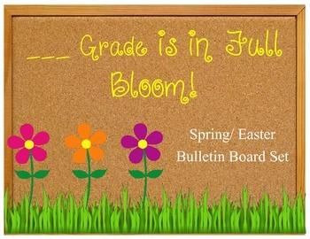 3rd Grade is in Full Bloom Bulletin Board set Spring K-5 K