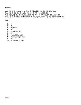 3rd Grade math Daily Review Week 4