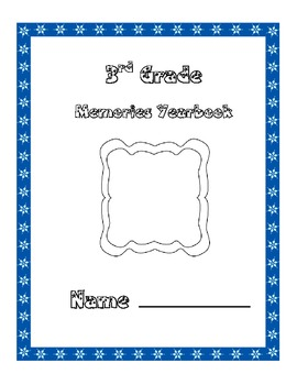 3rd Grade Memories Keepsake Yearbook End of Year / Year Lo