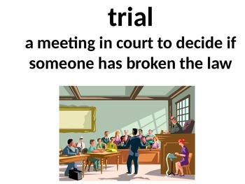 3rd Grade:Journeys Lesson 2 The Trial of.. Printable Vocab