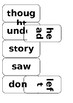 3rd Hundred Common / sight words flashcards