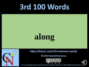 3rd Hundred Words with Audio - 1,000 Word Fluency Program (Free)