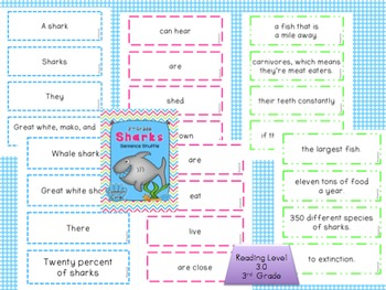 OCTOPUS & SHARK  Fluency Activity