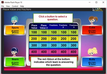 3rd Jeopardy Module 1 – Place Value and Fractions – 2012 TEKS/Common Core