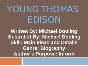 3rd L-10 Young Thomas Edison Vocabulary/Spelling/Comprehension Power Point