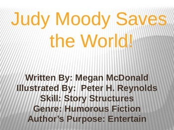 3rd L-16 Judy Moody... Vocabulary/Spelling/Comprehension P