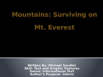 3rd L-25 Mountains Vocabulary/Spelling/Comprehension Power Point
