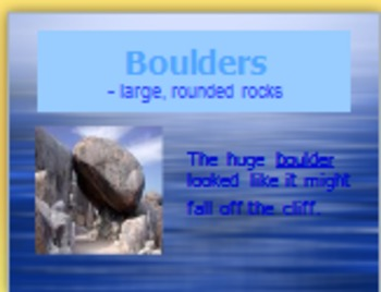3rd Language Arts HM 1.3 The Waterfall Vocabulary PPT