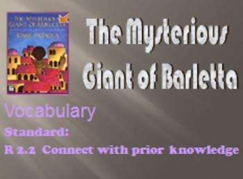 3rd Language Arts HM 3.2 Giant of Barletta Vocab PPT