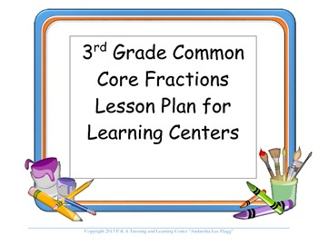 3rd Lesson Plan Fractions Common Core