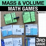 3rd Grade Mass and Volume Math Centers - 3rd Grade Math Games