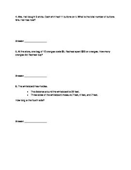 3rd Grade Math EOG Review