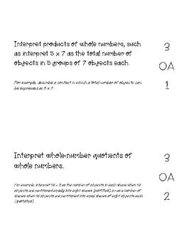 3rd Math Core Standards