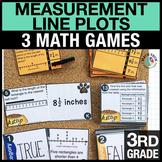 3rd - Measurement & Line Plots Math Centers - Math Games