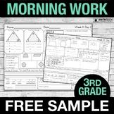 3rd Grade Morning Work - FREE Sample