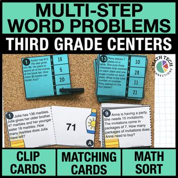 3rd - Multi-Step Word Problems Math Centers - Math Games