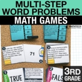 3rd Grade Multi-Step Word Problems Math Centers - 3rd Grade Math Games