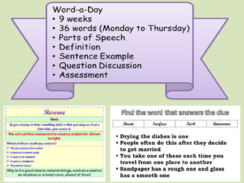 WORD A DAY 3rd Nine Weeks Vocabulary Grammar Parts of Speech