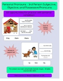 3rd Person Subjective, Objective, and Possessive Pronouns - 120 Practice Items