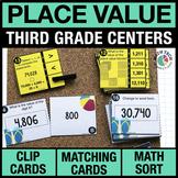 3rd - Place Value Math Centers - Math Games