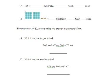 3rd Place Value Test 3 NBT.A1