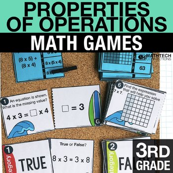 3rd - Properties of Operations Math Centers - Math Games