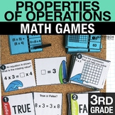 3rd Grade Properties of Operations Math Centers - Math Games | Task Cards