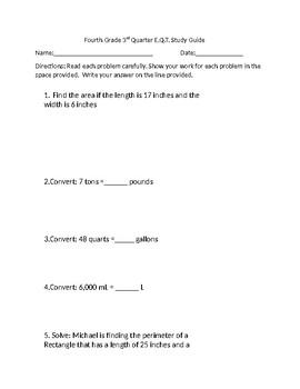 3rd Quarter CFA Study Guide