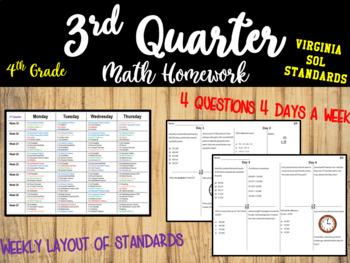 3rd Quarter Homework (SOL)