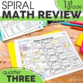 3rd Quarter Spiral Math Review | 1st Grade Morning Work | Homework
