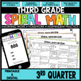 3rd Quarter Spiral Math Review | 3rd Grade Morning Work |