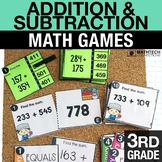 3rd - Addition & Subtraction Math Centers - Math Games