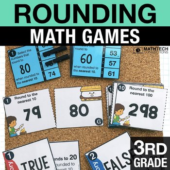 3rd - Rounding Math Centers - Math Games
