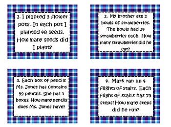 3rd SOL Set #2 2 digit by 1 digit Multiplication Word Prob