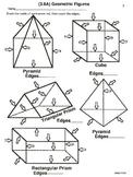 3rd Grade Geometry: Attributes (worksheets)