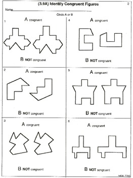 3rd Geometry (3.9A&C): Symmetry and congruent (animated and worksheets)