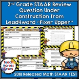 3rd  STAAR MATH Review Question Under Construction from Lead4ward Fixer Upper