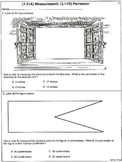 3rd Grade Measurement: Centimeters, Inches, Area, Perimeters (worksheets)