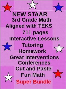 3rd STAAR Math: Building a Solid Foundation (711 pages)