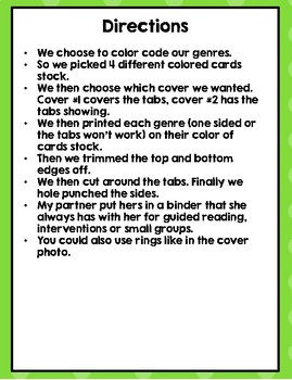 3rd  STAAR Reading Question Stems by Genre (Guided Reading, Intervention)
