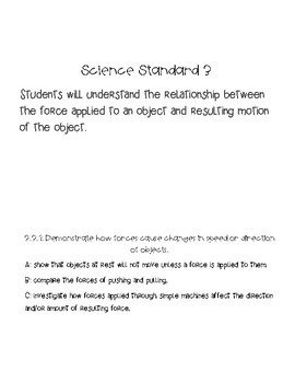3rd Science Core Standards