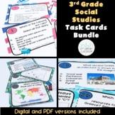 3rd Grade Social Studies Task Cards Bundle (VA SOL Aligned) {Digital & PDF}