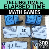 3rd - Telling Time and Elapsed Time  Math Centers - Math Games