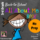 3rd (Third) Grade  Back to School (All About Me) Book {No Prep}