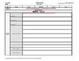3rd Third Grade Common Core Weekly Lesson Plan Template w/ Drop Down Lists