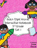 3rd Third Grade Dolch Sight Word Interactive Notebooks Set 1