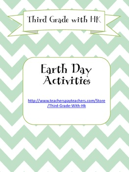3rd Third Grade Earth Day Activity Pack - Reading, Writing, Math,