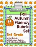 Fluency Rubric 3rd Third Grade  Autumn