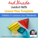3rd Third Grade Guided Math Lesson Plan Template & Checklists Bundle (Editable)
